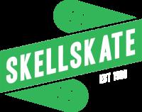 Skellskate logo – Grön vit